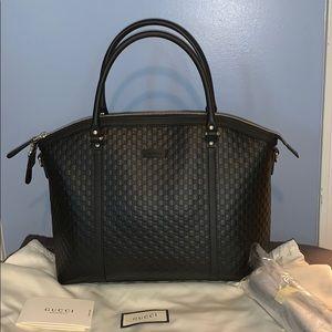 New Gucci Micro Guccisimma tote cross body bag